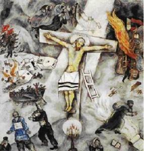 crocifissione bianca di marc chagall