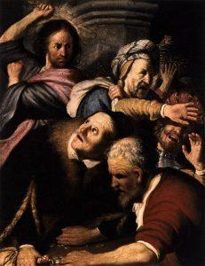 15 rembrandt 1626 cacciata tempio