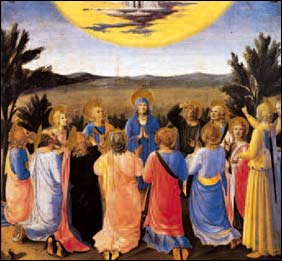 beato angelico ascensione di gesù al cielo