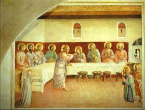 beatoangelico istituzione_eucarestia_1450
